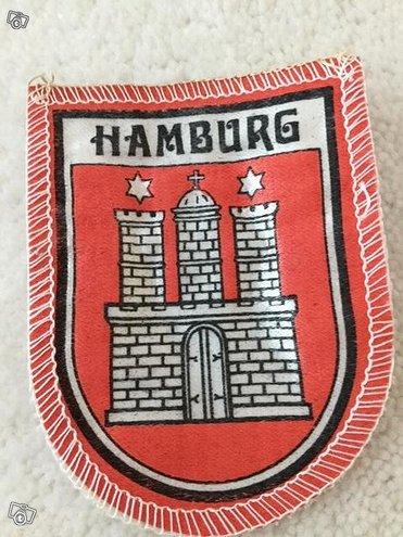 Hamburg Hampuri kangasmerkki /hihamerkki