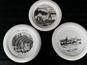 Arabian emali lautaset (kolme kpl), Muu keräily, Keräily, Tampere, Tori.fi