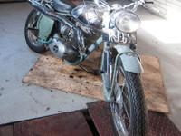 Maico merkkinen moottoripyörä vm. 55 -50
