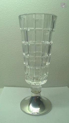 Aimo Okkolin Ruutu kristallimaljakko hopea 830