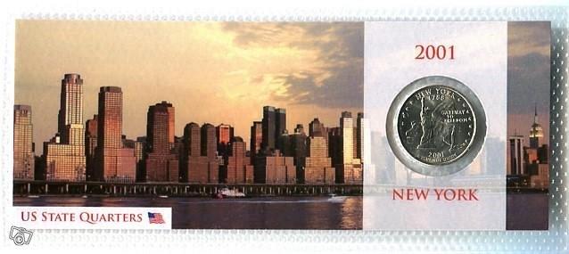 New York 25 sentin kolikko Uusi Pkt 2,5Eu Nouto