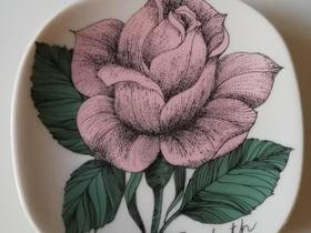Arabia Rosa Elizabeth seinälautanen, Antiikki ja taide, Sisustus ja huonekalut, Turku, Tori.fi