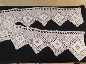 Valkoinen pitsikappa 30 x 230 cm, Matot ja tekstiilit, Sisustus ja huonekalut, Kannus, Tori.fi