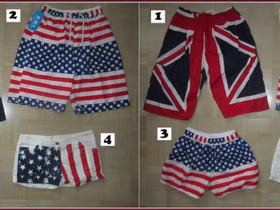 USA ja U.K. lippu shortseja erilaisia, Vaatteet ja kengät, Ruovesi, Tori.fi