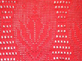 Käsinvirkattu punainen verhokappa 215cm.x57cm, Muu sisustus, Sisustus ja huonekalut, Hamina, Tori.fi