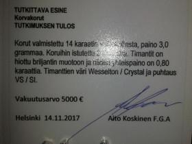 Timanttikorvakorut isoilla tamanteilla UUDET, Kellot ja korut, Asusteet ja kellot, Helsinki, Tori.fi