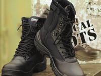 Mil-tec taktiset kengät ykk vetoketjulla musta