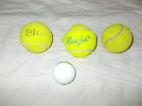 3 kpl tennispalloa,golfpallo,kumipallo, Pallopelit, Urheilu ja ulkoilu, Helsinki, Tori.fi