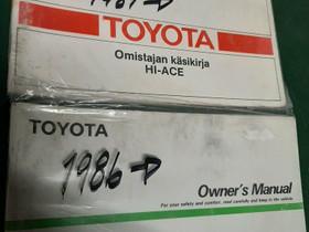 Toyota Hiace käyttöohjekirjat, Autovaraosat, Auton varaosat ja tarvikkeet, Sipoo, Tori.fi