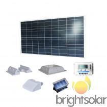 Brightsolar 160W aurinkopaneelisetti, Matkailuvaunujen tarvikkeet, Matkailuautojen tarvikkeet, Imatra, Tori.fi