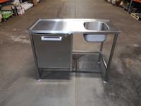 Pesupöytä Metos 1200 x 600 x 900 mm