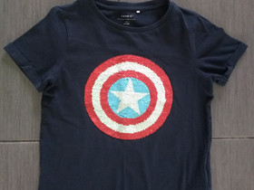 Lasten Avengers paljetti t-paita 122/128 cm, Lastenvaatteet ja kengät, Kajaani, Tori.fi