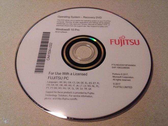 Fujitsu restore disk