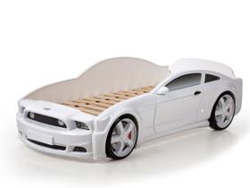 Autosänky lasten Mebelev Mustang 3D valkoinen, Sängyt ja makuuhuone, Sisustus ja huonekalut, Pieksämäki, Tori.fi