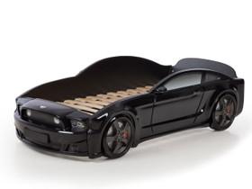 Autosänky lasten Mebelev Mustang 3D musta, Sängyt ja makuuhuone, Sisustus ja huonekalut, Pieksämäki, Tori.fi