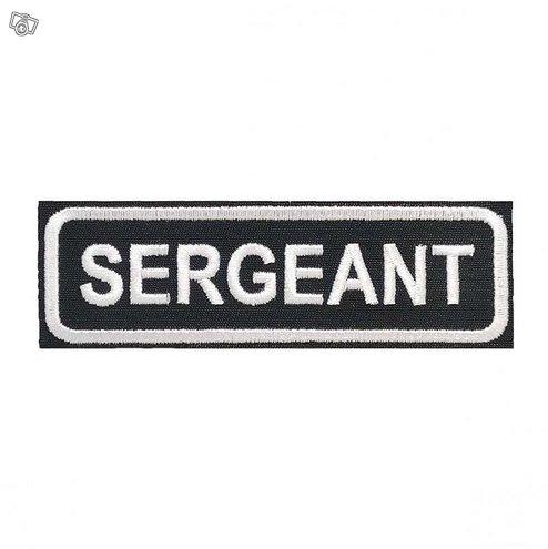 SERGEANT Kangasmerkki - SERGEANT Patch