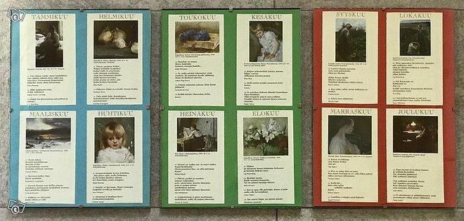 Taidekuva-runotaulut lasikehyksissä