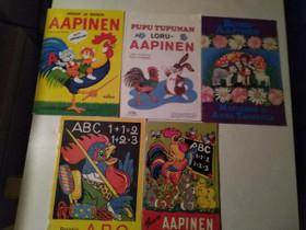 Retro Oppimis Aapis-kirjoja, Oppikirjat, Kirjat ja lehdet, Kajaani, Tori.fi