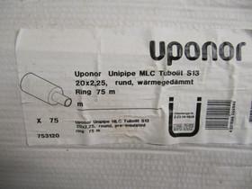 Uponor Unipipe MLC Tubolit S13 20x2,25, 75m, LVI ja putket, Rakennustarvikkeet ja työkalut, Heinävesi, Tori.fi