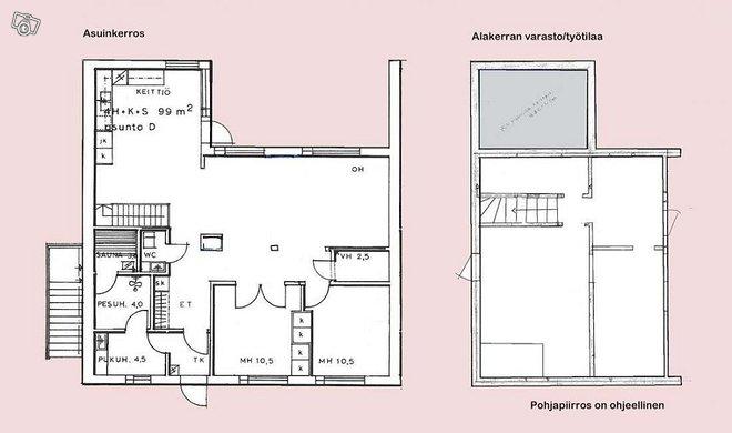 3-4h+k+s+at rivitaloasunto Pyynpäässä 99+50 m2