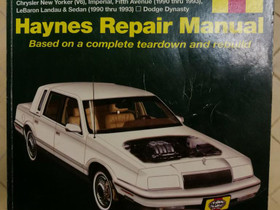 Haynes Chrysler repair manual, Lisävarusteet ja autotarvikkeet, Auton varaosat ja tarvikkeet, Nurmijärvi, Tori.fi