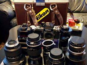 Nikon Wintage Setti , Kamerat, Kamerat ja valokuvaus, Helsinki, Tori.fi