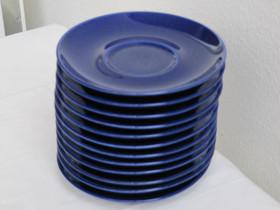 Käyttämättömät kahvikupin siniset lautaset 12 kpl, Kahvikupit, mukit ja lasit, Keittiötarvikkeet ja astiat, Hollola, Tori.fi