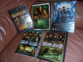 DVD elokuvat Pirates the Caribbean x 4 kpl, Elokuvat, Kotka, Tori.fi